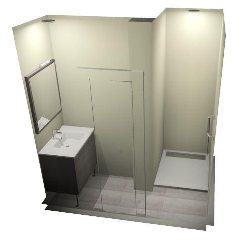 Salle de bains parentale par Leroy Merlin