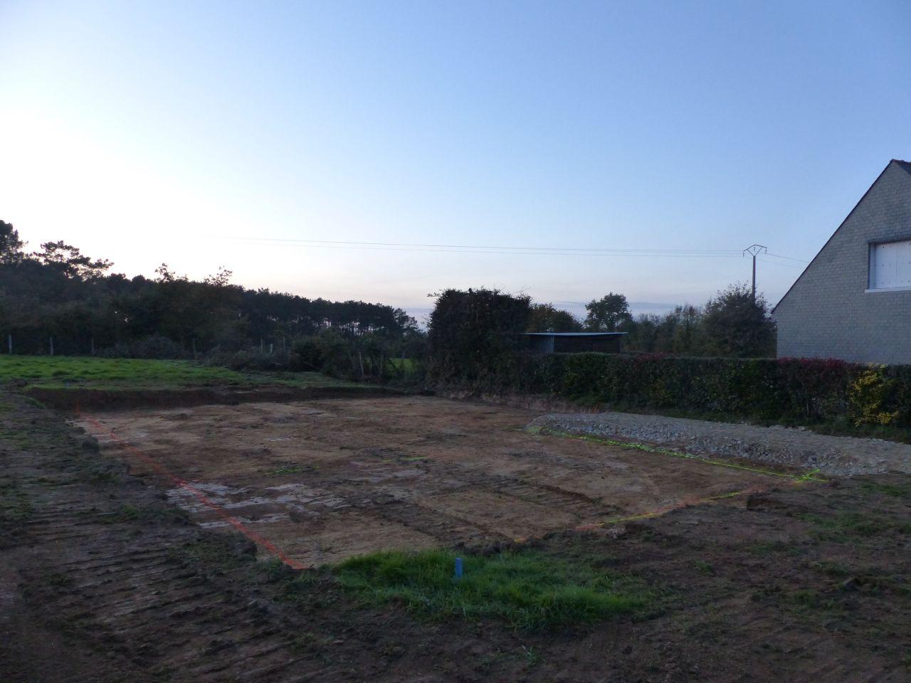 Démarrage du terrassement et du chemin d'accès au chantier
