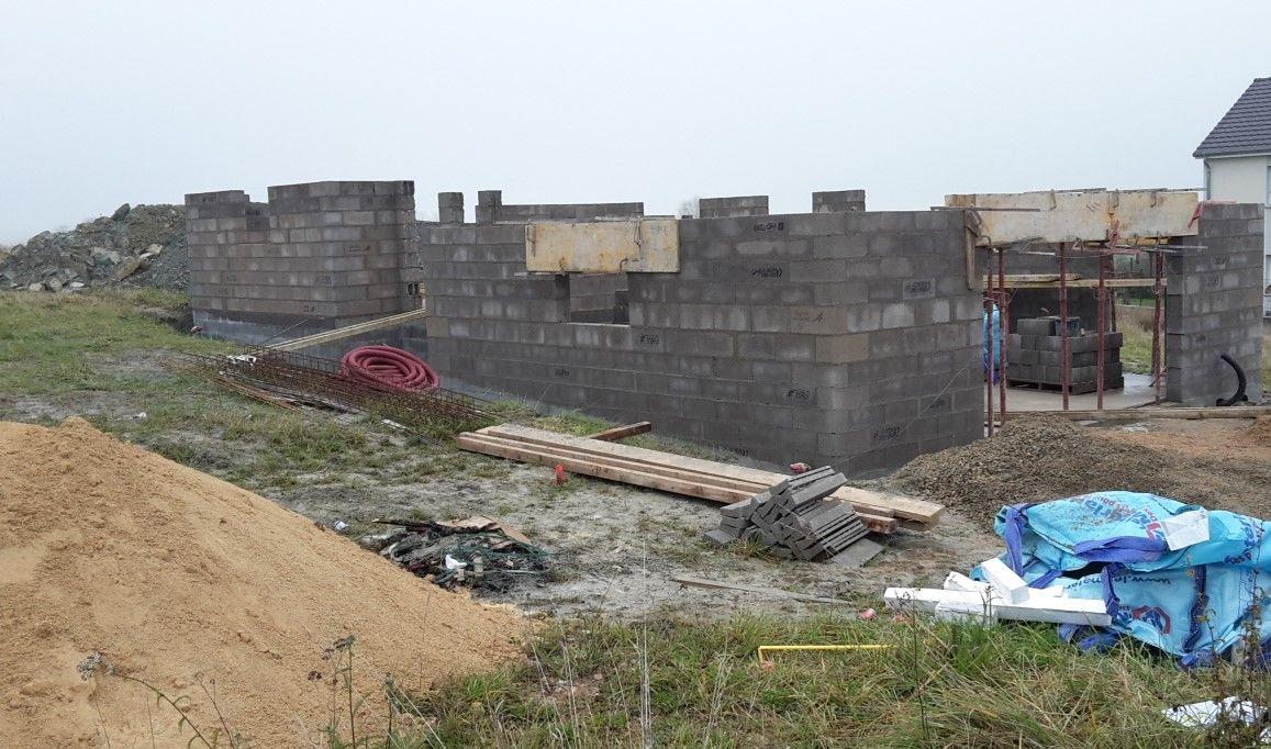 Elévation des murs du garage