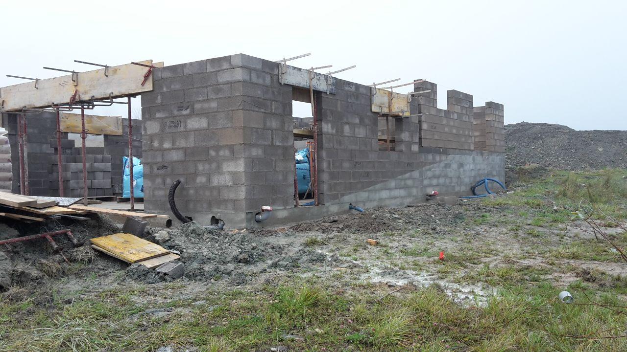 Elévation des murs - Facade Sud-Est
