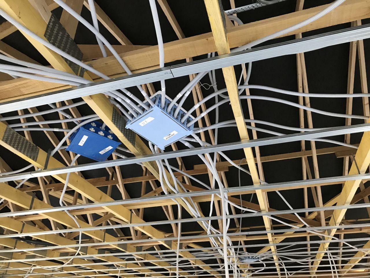 Rails placo + pieuvre électrique