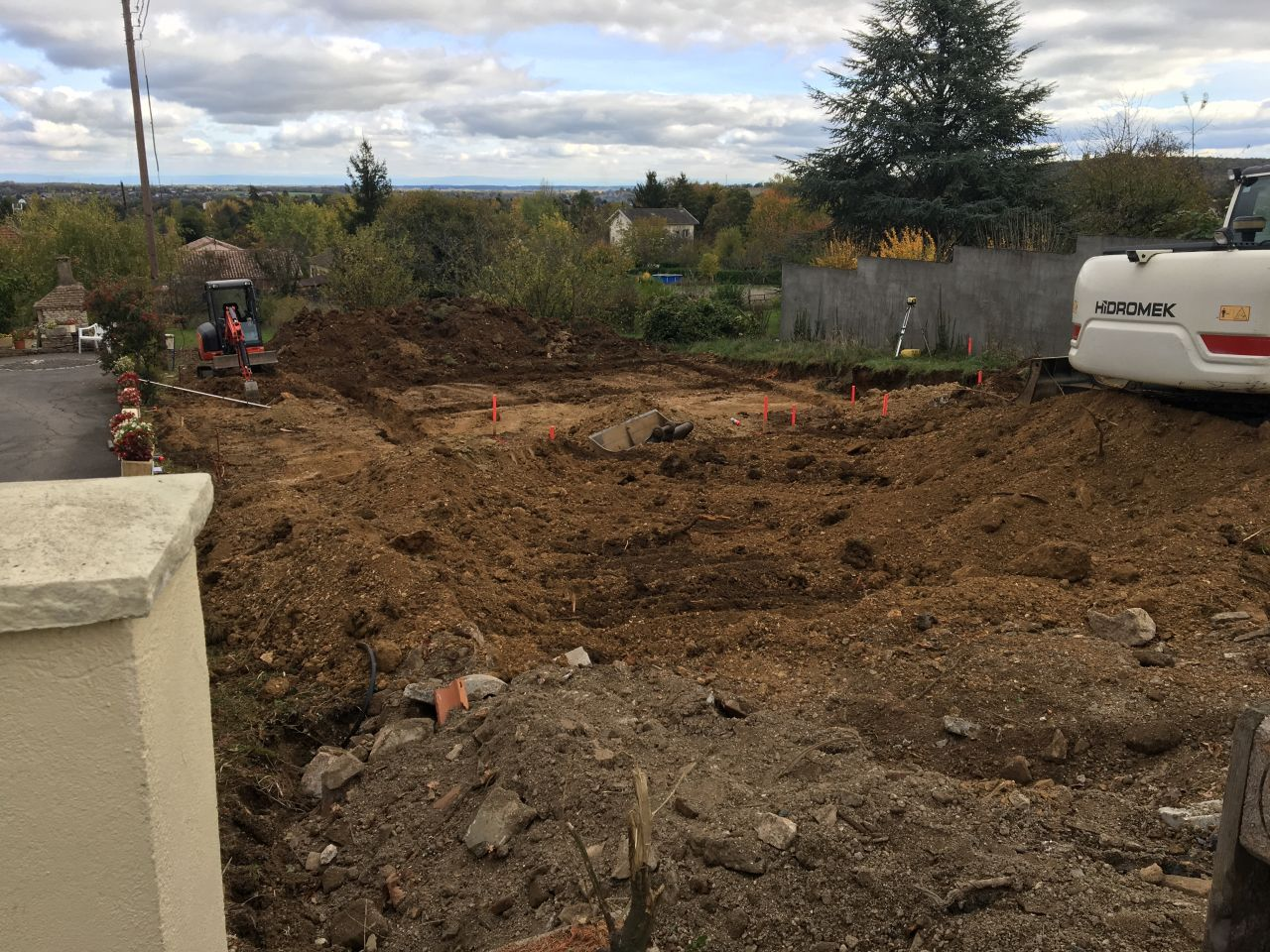 Les fondations sont creusées