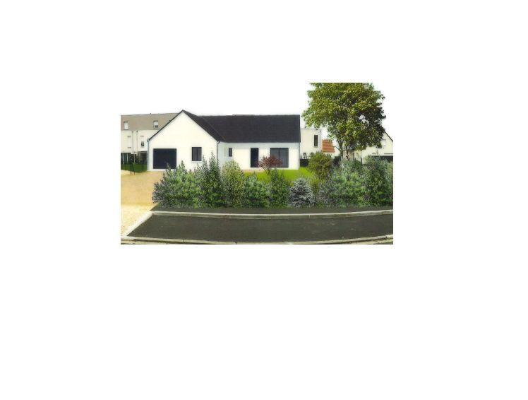 vue 3d de la maison envoyée pour le permis de construire