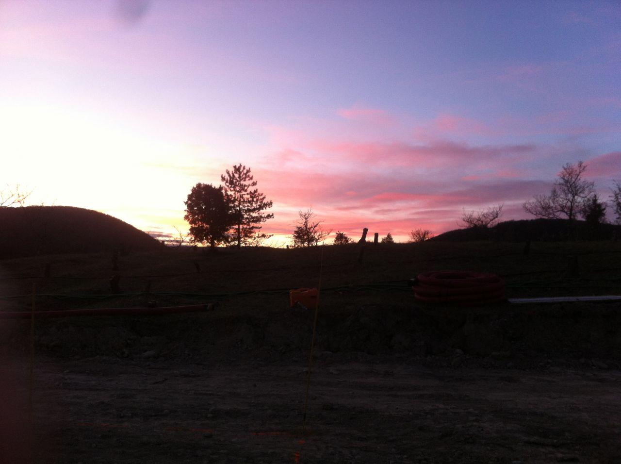 Joli coucher de soleil pour terminer ce week-end productif