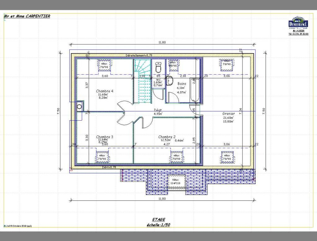 Plan maison traditionnelle en bretagne 5 messages for Plan maison bretagne