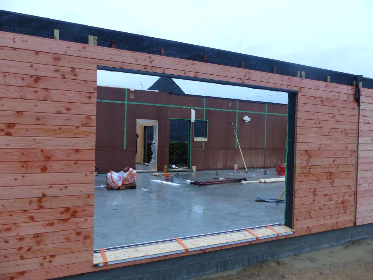 Façade Sud - Ouverture de la baie vitrée (3 mètres linéaires)