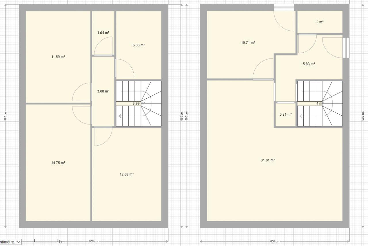 Test de plan avec escalier central