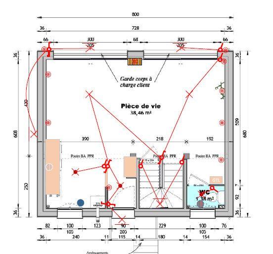 Plan électrique Rdc