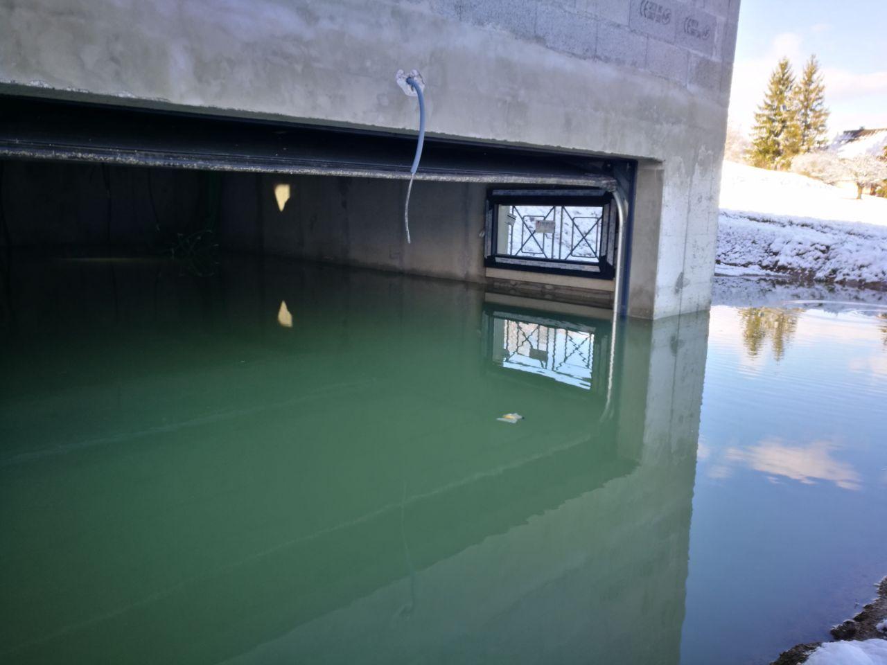Inondation du sous sol