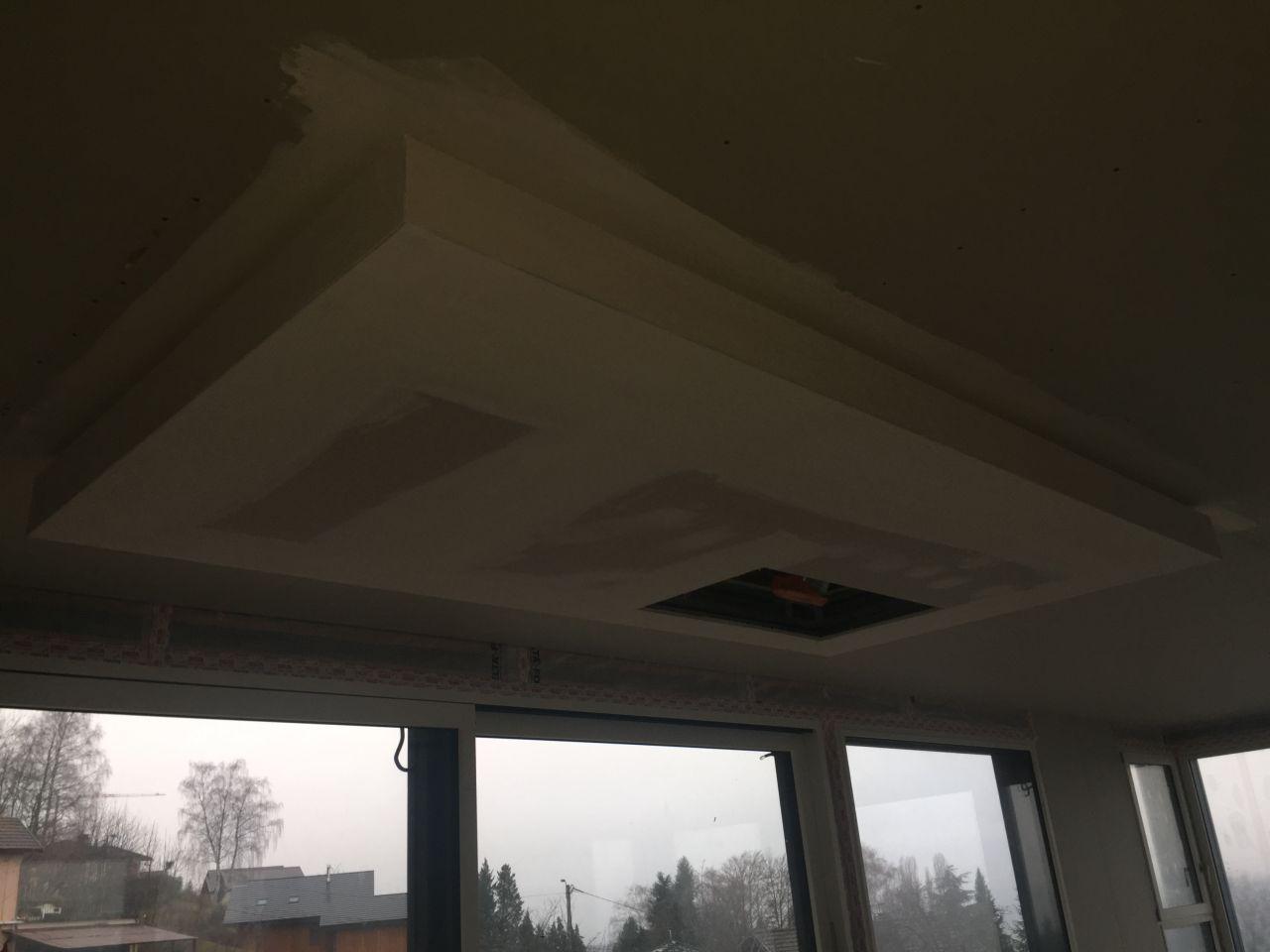Cloisons ok, faux plafond de la cuisine
