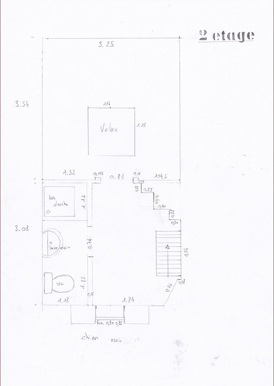 Plan du 2ème étage dans l'état