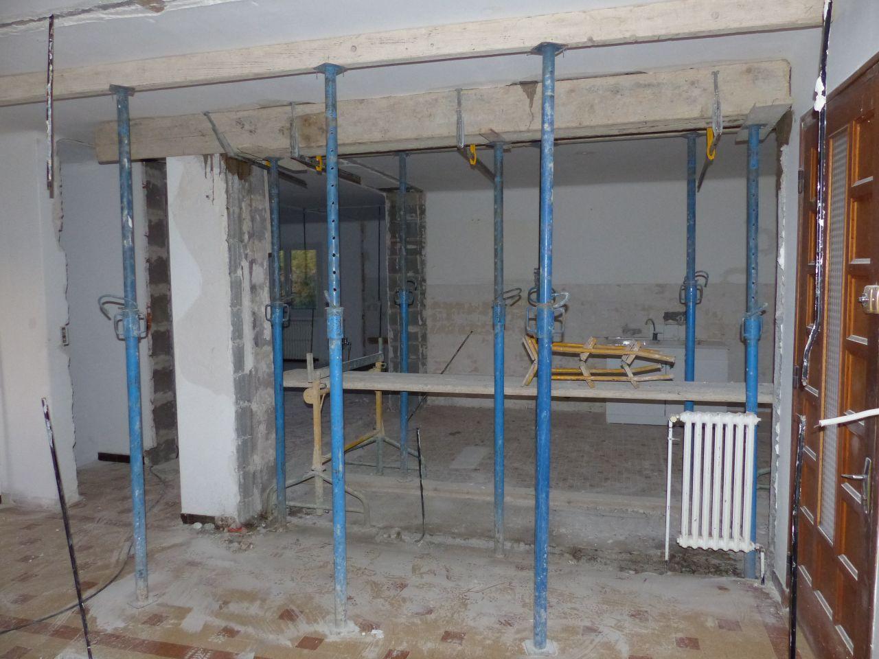 Coulage du linteau entre la cuisine et le séjour