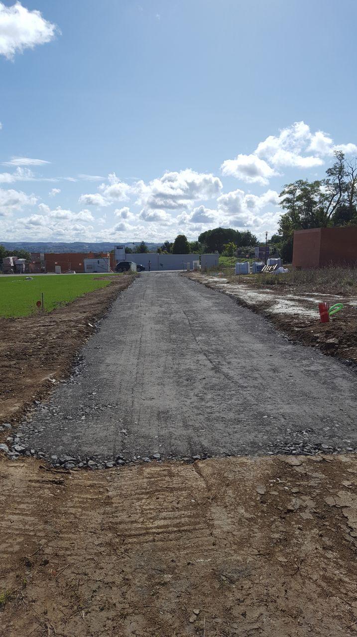 Chemin d'accès chantier - coté maison