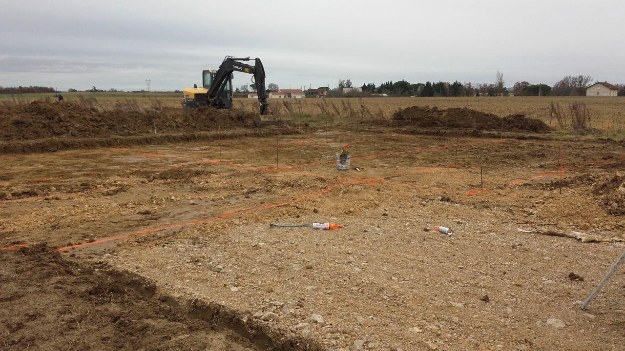 Ouverture de chantier avec la partie terrassement