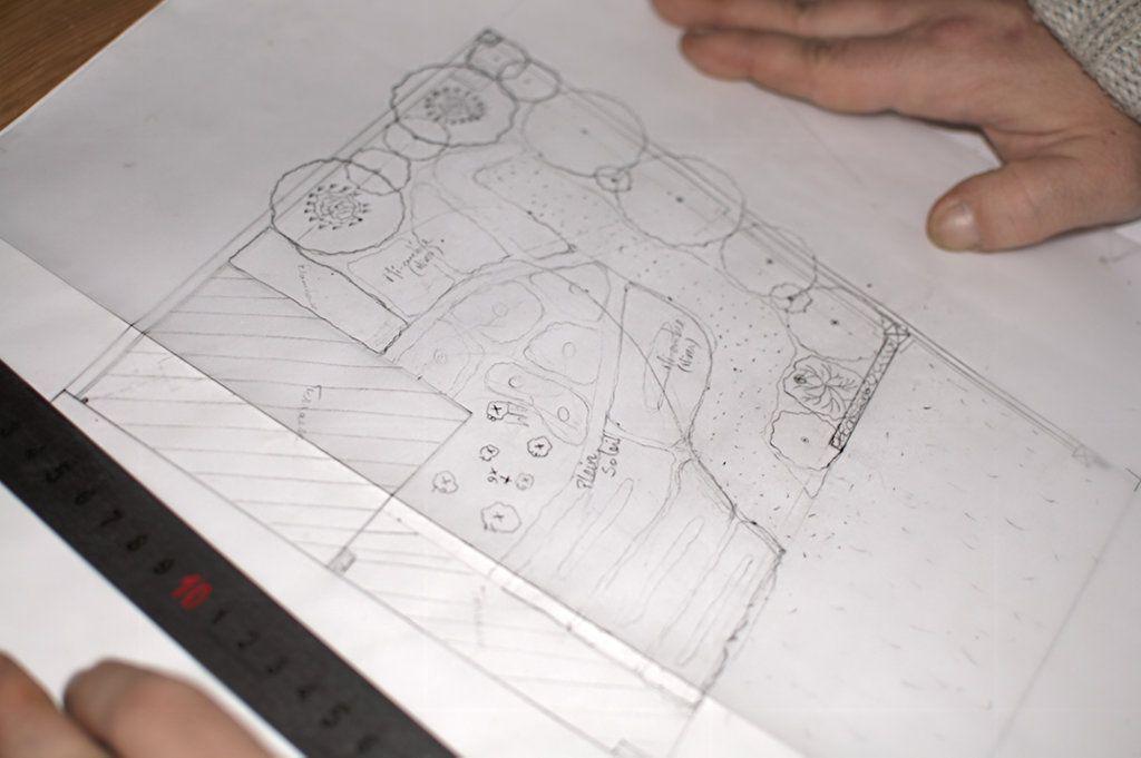 Pour Laureline, le plan d'implantation du jardin de devant