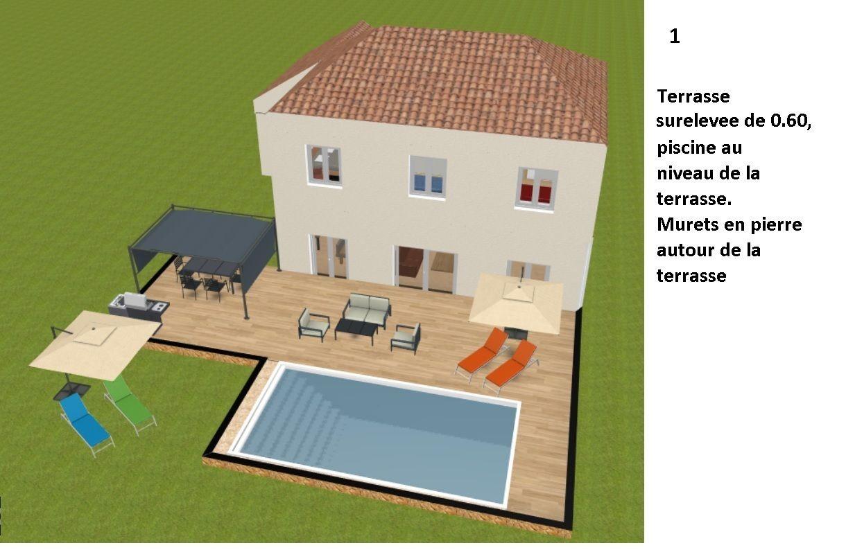 Idee 1: terrasse sureleve avec decroche