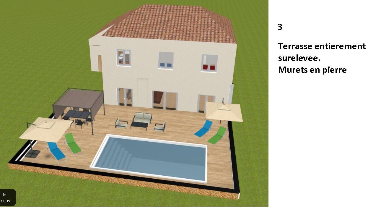 Idee 3: terrasse completement surelevee