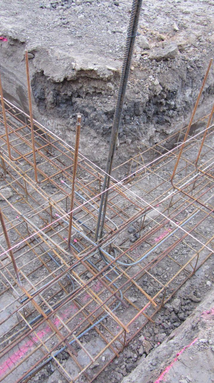 Armature métallique des fondations