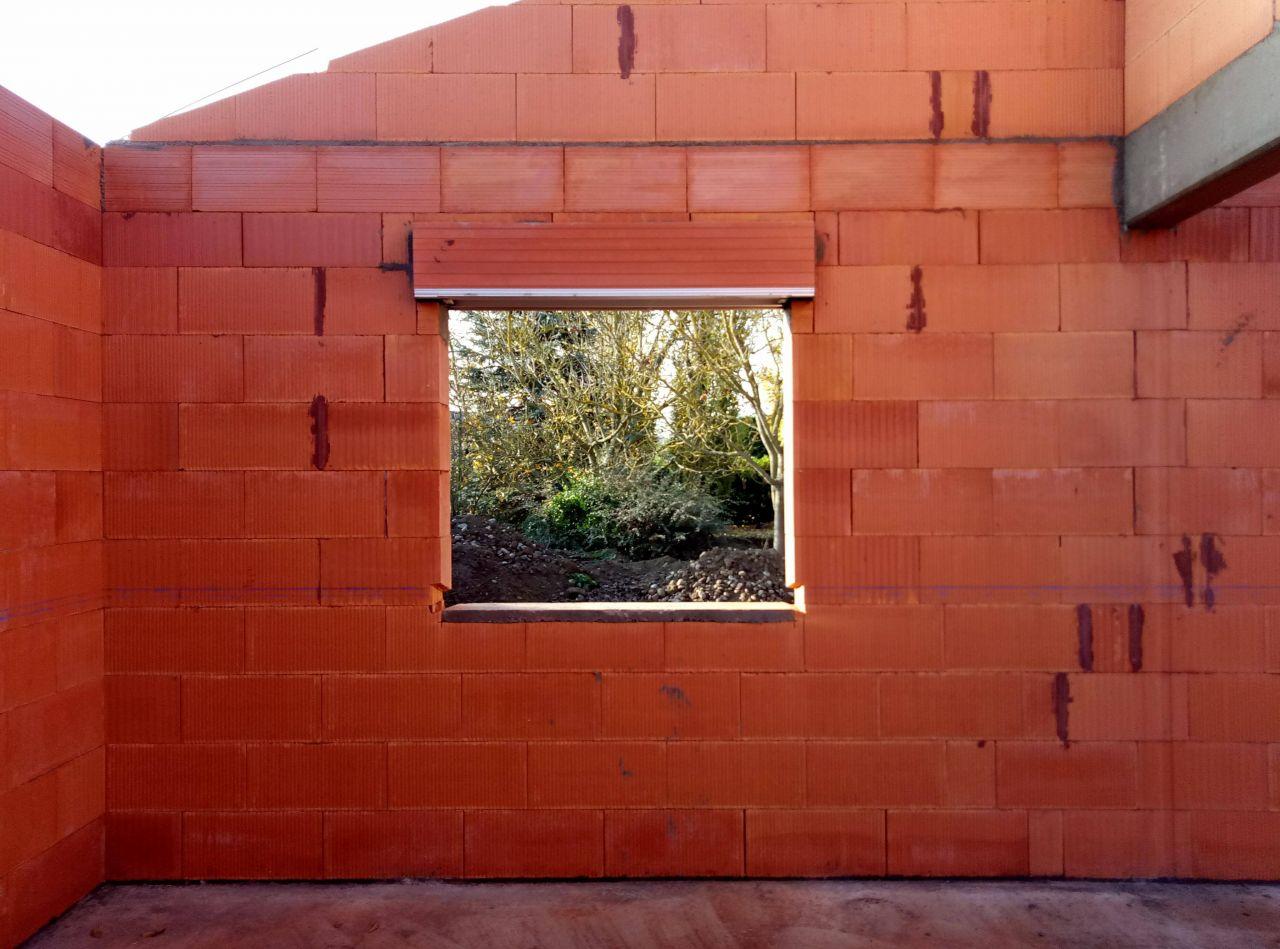 Mur charpente toit une pente