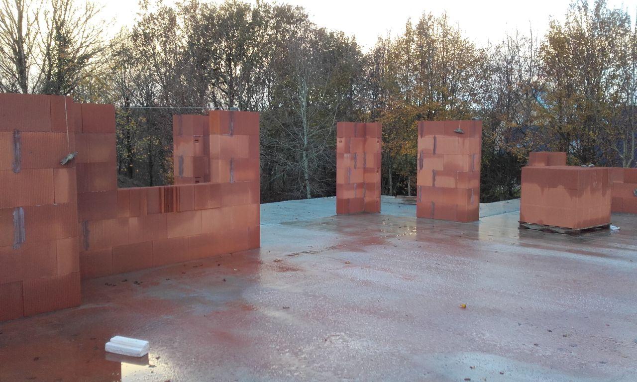 élévation en briques alvéolées BGV THERMO