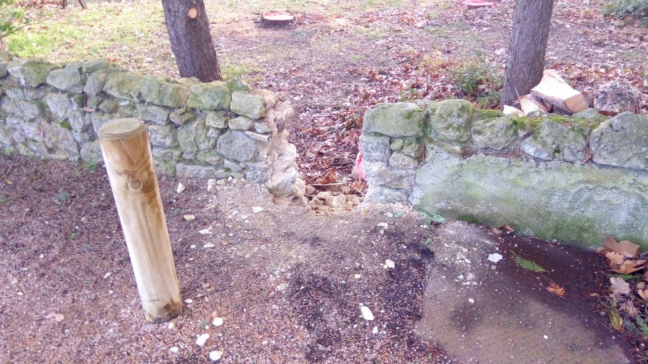 Compteur Enedis : Apres découpe du mur