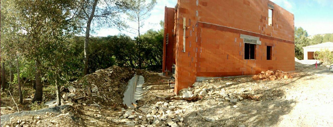 fondations mur de soutènement