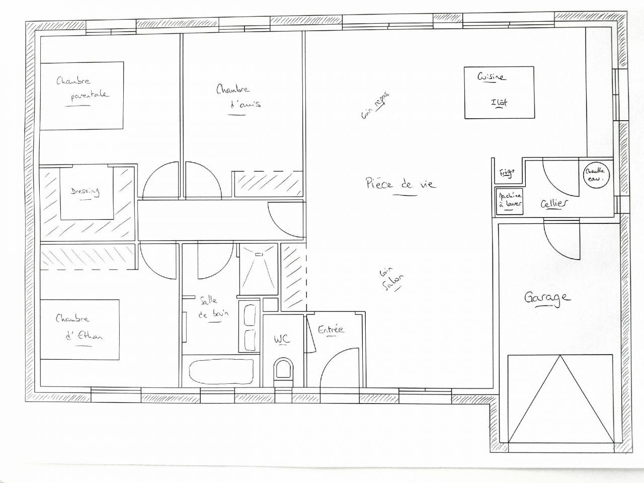 Le tout premier plan de notre maison !