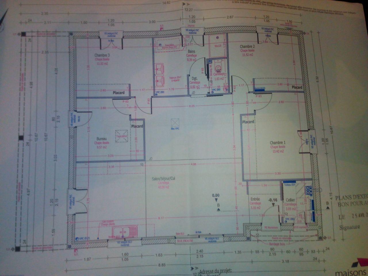 Le plan définitif pour le permis de construire