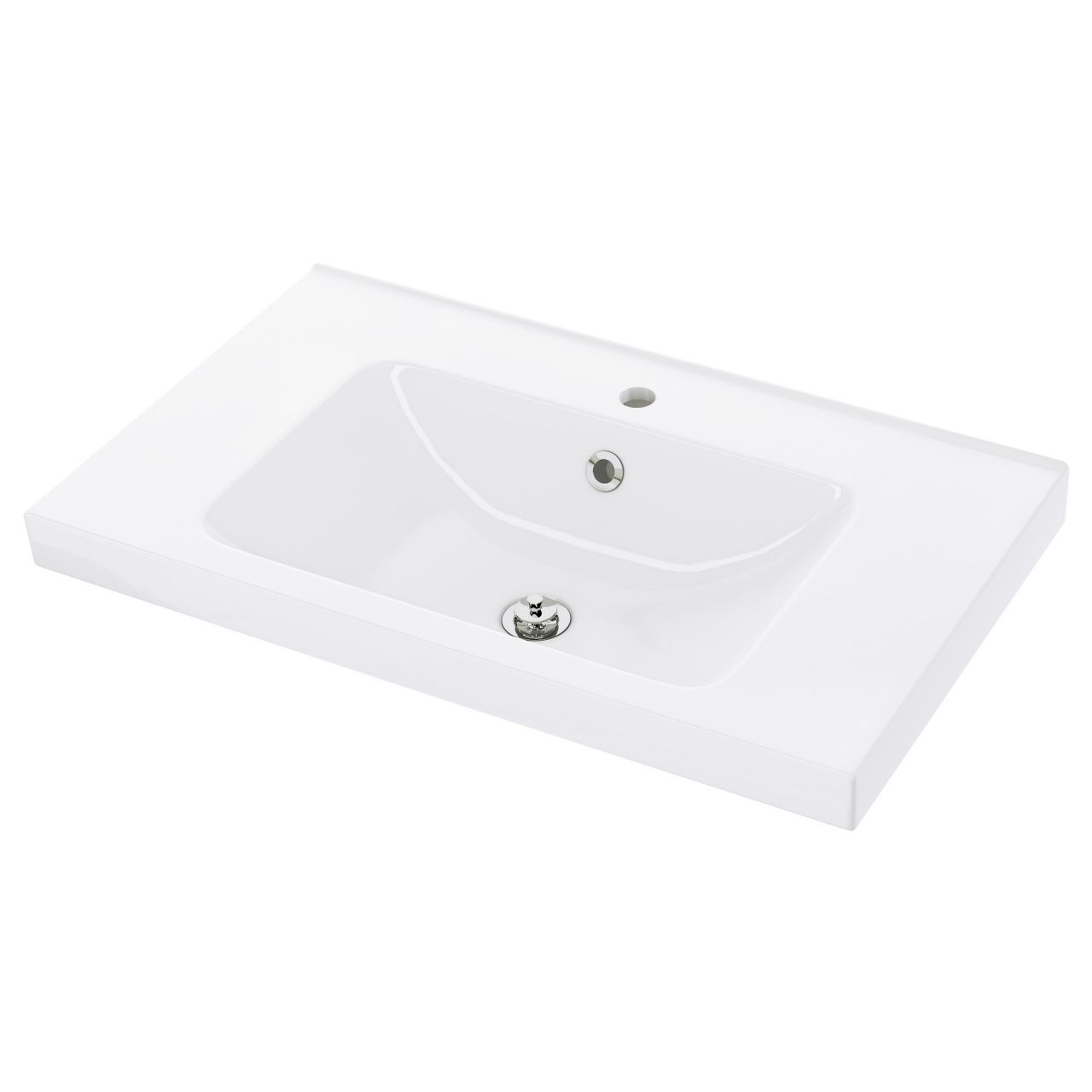 Vasque de notre salle d'eau <br /> Vasque ikea ODENSVIK en 80cm