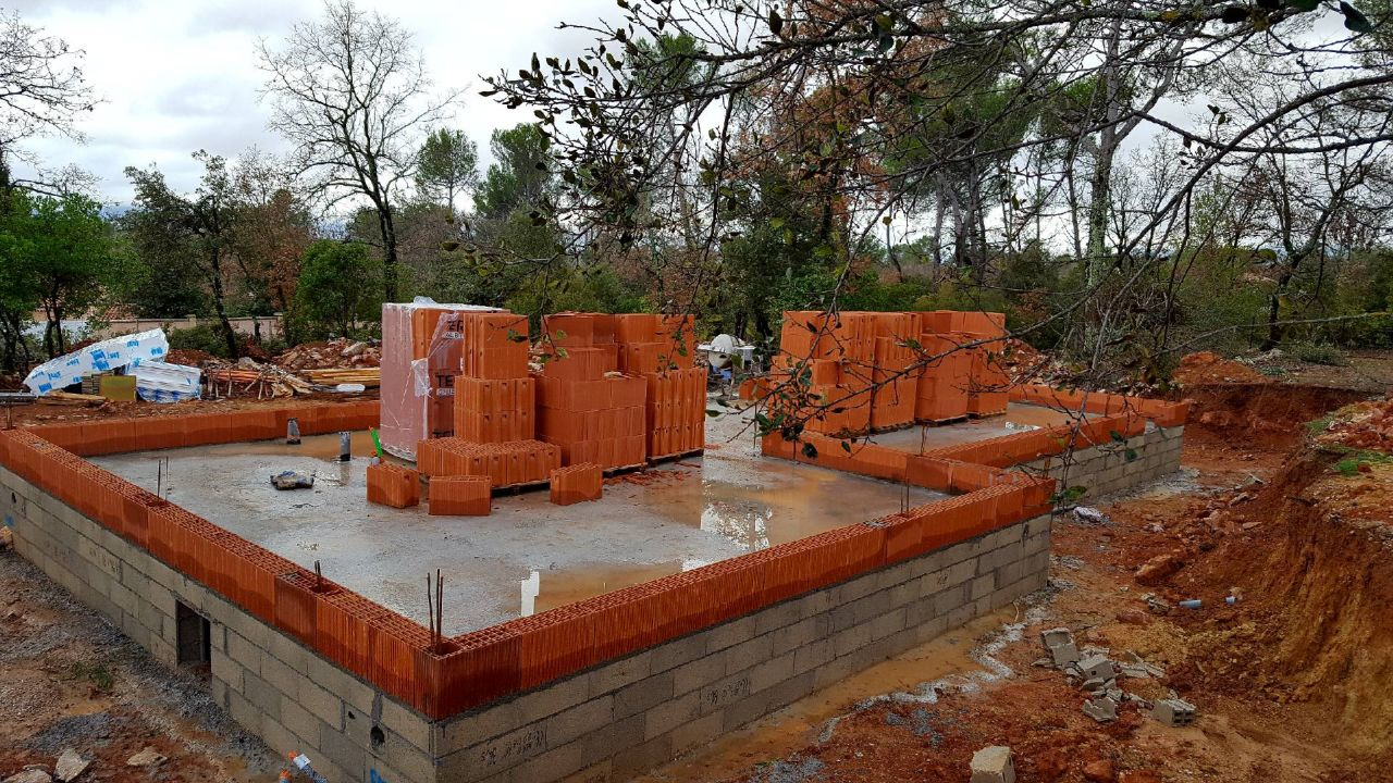 Murs RDC montés le 11/01/18