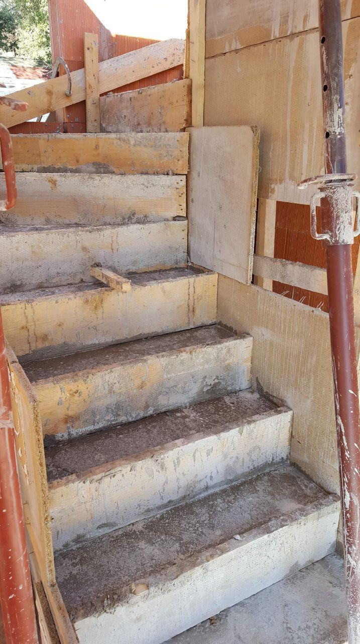 Escaliers coulés fin Janvier 2017
