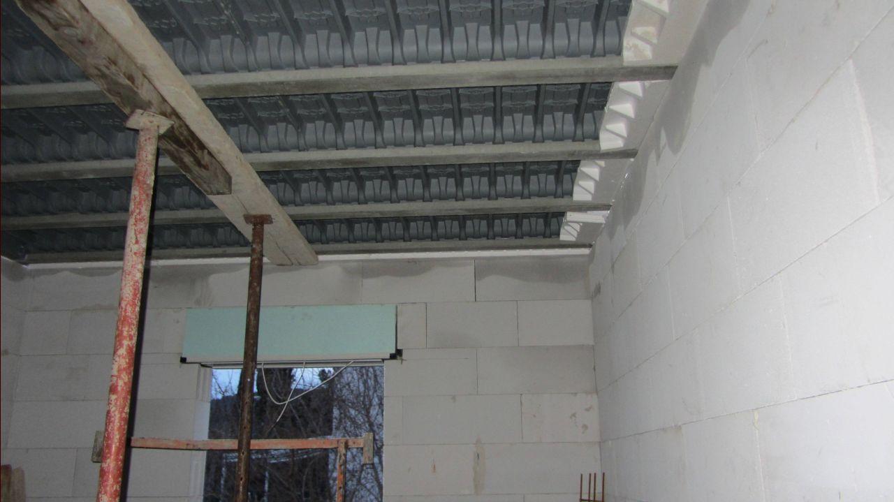 Préparation de la dalle pour l'etage