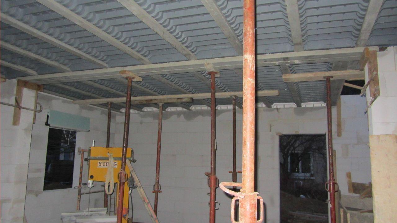 Préparation de la dalle de l'etage