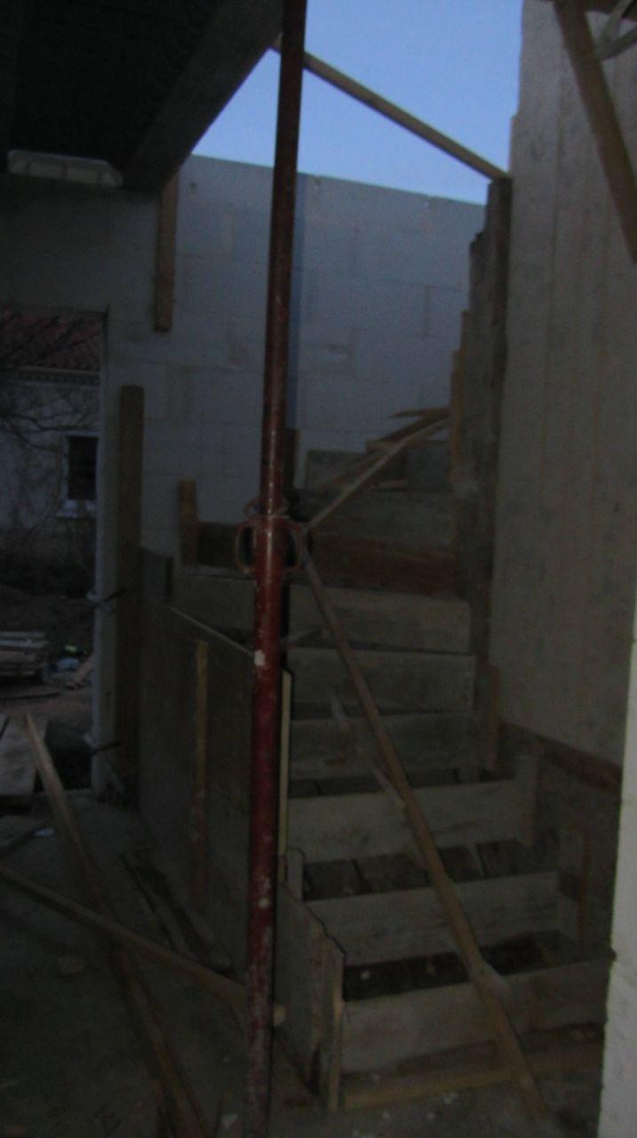 Préparation de l'escalier