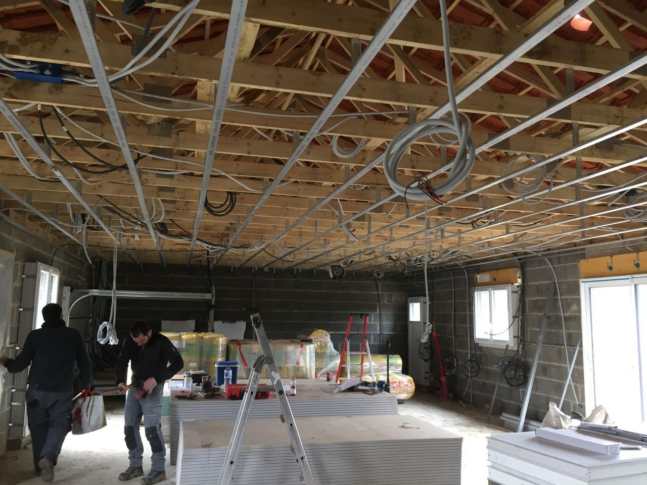 Installation des câbles électriques
