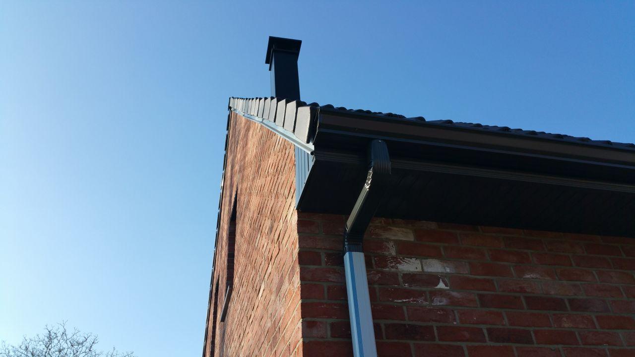 L'ondulation du toit côté est