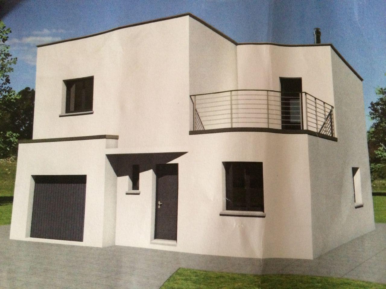 Vue 3D façade avant. Projet non retenu (Roalles Caillot)