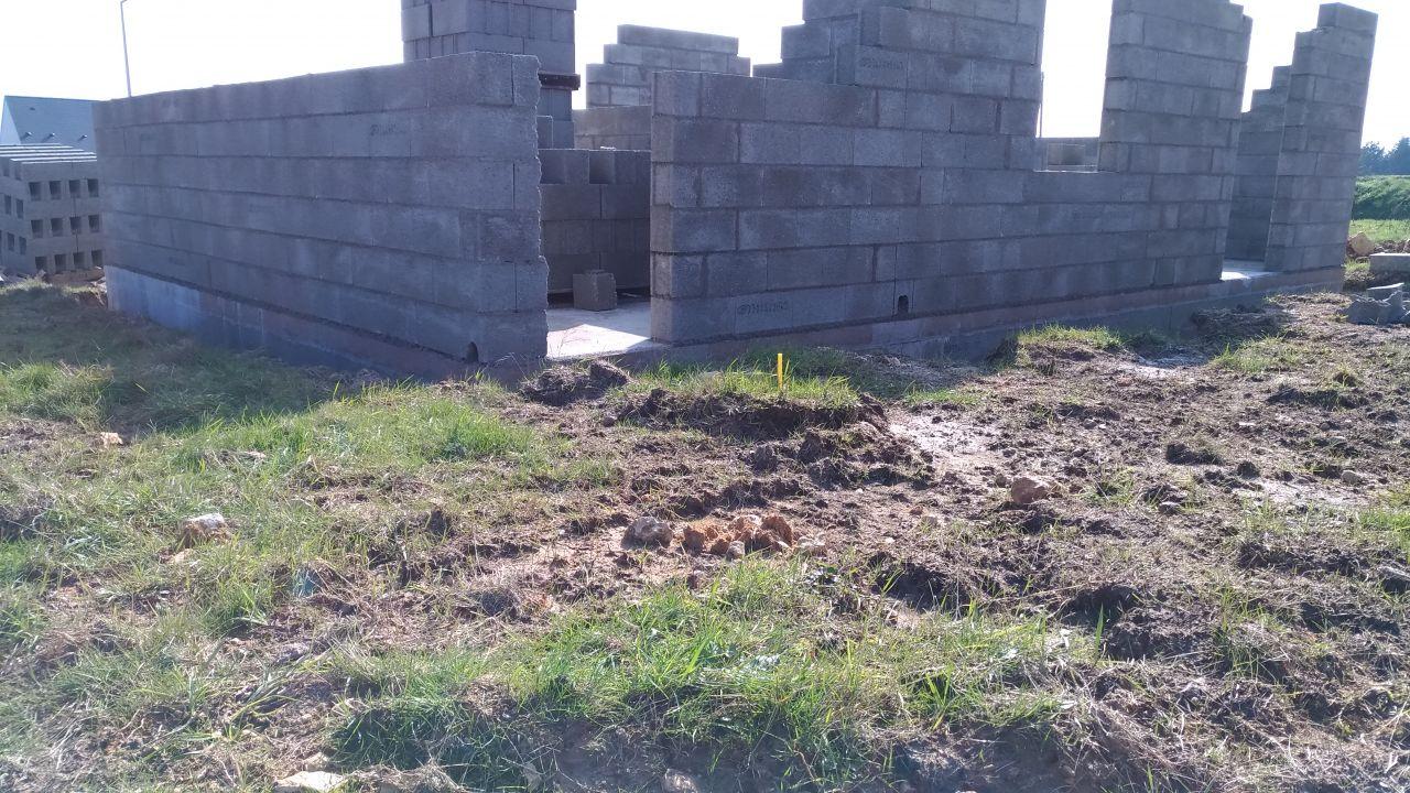 Élévation des murs, étape 2