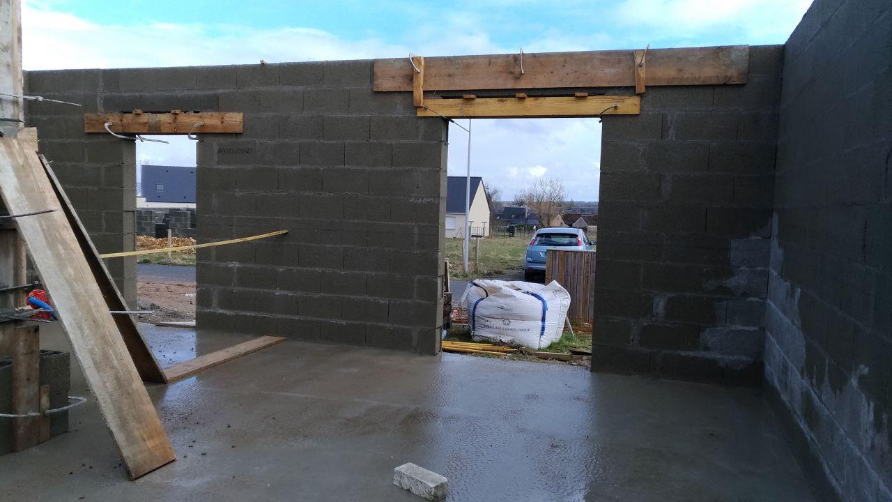 Élévation des murs, étape 3
