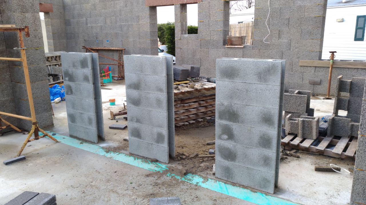 Elevation de mes murs capteur en Vertical Bloc