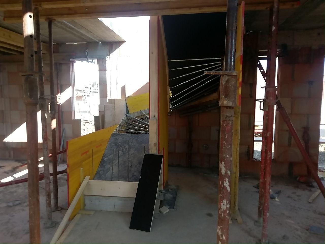 Coffrage de l'escalier