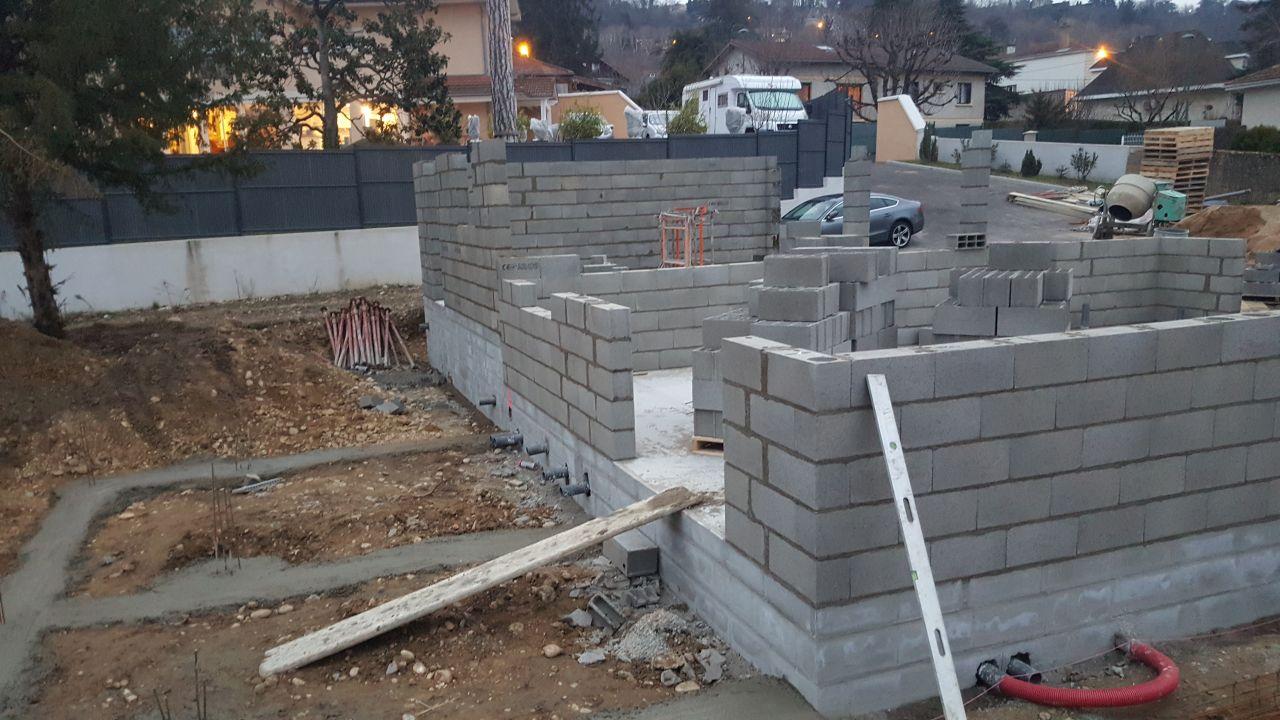 face ouest <br /> + fondations terrasse