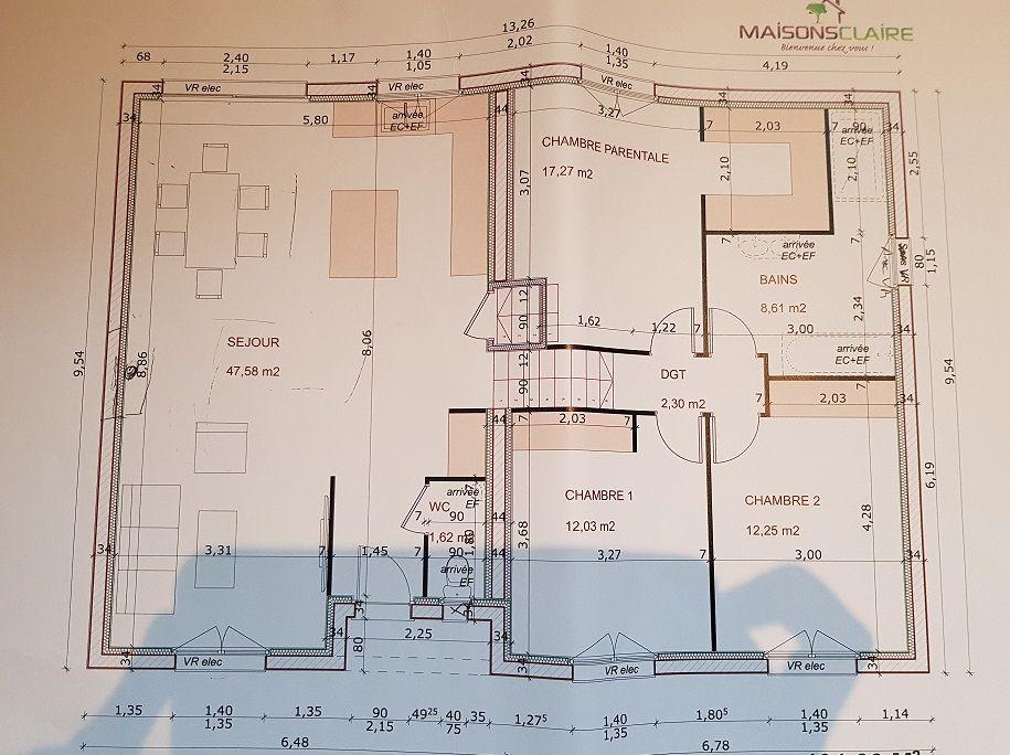 Nouveau plan demi-niveau - RDC + Etage