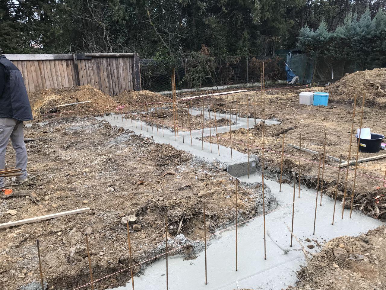 Fondations et ferraillage terminé