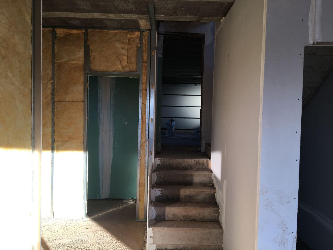Placo wc et escalier