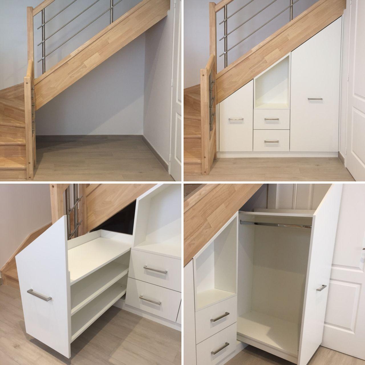 Aménagement sous escalier sur mesures