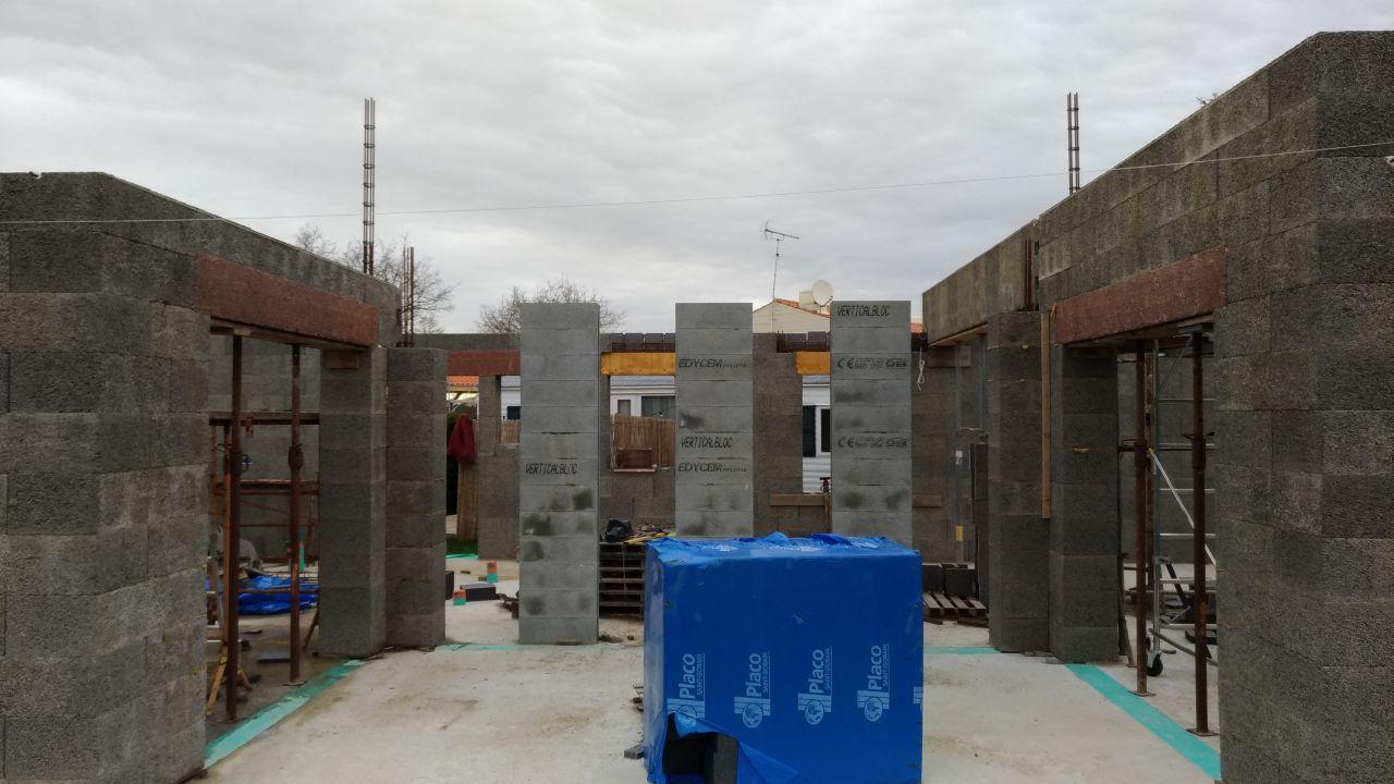 mur capteur en vertical bloc