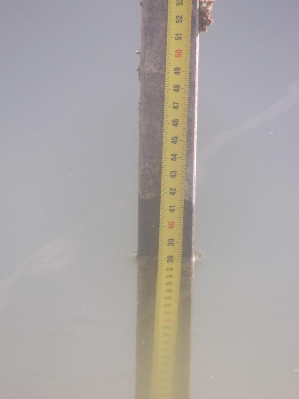 Fondation noyée sous 40 cm d'eau