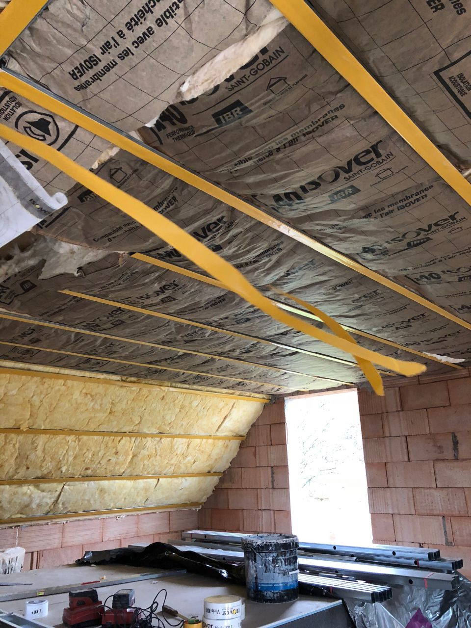 Isolation plafond étage