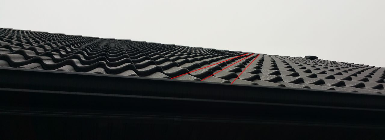 Défaut du toit face ouest